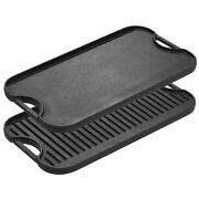 Lodge Pre-seasoned One Cast Iron Reversible Grill/griddle With Handles 20x10.5in
