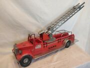 Vintage Smith Miller Smitty Toys 1-410 Mic Aerial Ladder Fire Truck Lafd. Wow