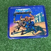 He-man Masters Of The Universe Metal Lunchbox 1983 Aladdin With Thermos