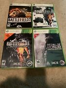 Lot Of 4 Battlefield/dice Games For Xbox 360