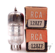 2 Rca 12az7 General Purpose Twin Triode Vhf Tv Valve- Bangybang Tubes