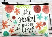 1 Cor 1313 The Greatest Of These Is Love 6 Zipper Coin Purse Bag Pouch