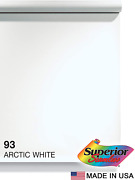 Superior Seamless Photography Background Paper 93 Arctic White 107 Inches W...