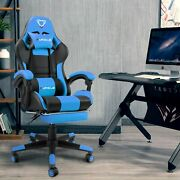 Gaming Chair Racing Ergonomic Recliner Office Computer Seat Swivel Footrest
