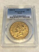 1866-s Xf45 Pcgs Liberty Double Eagle 20 Gold Coin