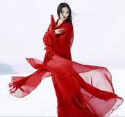 New Womenand039s Chinese Style Hanfu Clothing Ancient Costume Han Dance Cosplay Dress