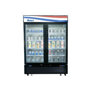 Atosa Usa Mcf8733gr 39 Two Section Merchandiser Refrigerator With Glass Door...