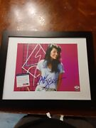 Tiffani Amber Thiessen Signed 11x14 Framed Saved By The Bell Tv Show Photo Psa