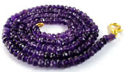 3-4mm Natural Dark Amethyst Faceted Beads Beaded Gold Fish Lock Necklace Jewelry