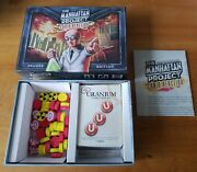 The Manhattan Project Chain Reaction Deluxe Edition Card Game Board Complete