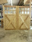 Brand New 9x8 Carriage Garage Doors Stain Grade Insulated
