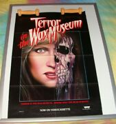 Terror In The Wax Museum 1985 Orig. Movie Poster 24 X 36 Monster Horror Poster