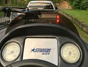 Stratos Boat Center Dash Plate - 304 Brushed Finish Stainless Steel.