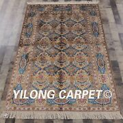 Yilong 4and039x6and039 Vintage Handmade Silk Oriental Carpets Classic Porch Area Rugs L12a