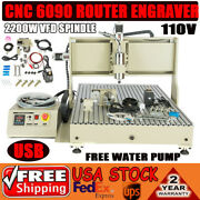 4 Axis Cnc6090 2200w Usb Vfd Spindle Motor Milling Engraving Machine+control Box