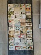 Instant Collection Of 48 Antique Christmas Postcards With Traditional Scenes