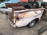 Vintage 55-59 60-66 Chevy Gmc 6.5andrsquo Stepside Truck Bed Dented Rusty Patina