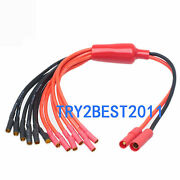 New Hxt 4mm To 3.5mm 6 Wire Bullet Multistar Esc Power Breakout Cable Hexacopter