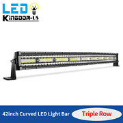 Curved 42inch Led Work Light Bar Spot Flood Combo Driving Lamp Offroad Tri-row