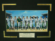 Matted 10 X 5 Photosigned By The 11 Living Members Of 500 Home Run Club