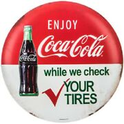 Vintage Style 12 Coca Cola Gas Station Signs Man Cave Garage Decor Oil Can