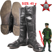 Size 45 У Soviet Field Leather Army General Boots Chrome German Reparation