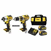 Dewalt 18v Xr Brushless Combi Drill And Impact Driver Kit With 2 3.0 - Usa Brand