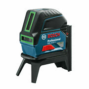 Bosch Prof Gcl 2-15 G Green Beam Cross Line Laser With Plumbs - Germany Brand