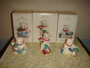 Hallmark 2006, 2007 And 2008 Snowball And Tuxedo Series 6, 7 And 8th Ornaments