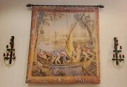 Wall Tapestry 18th Century Deand039 Rambouillet French Embarquement Reproduction