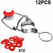 12 Pcs Swing Top Glass Bottle Caps Flip Beer Swing Cap With Gasket Free Shipping
