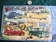 Set 4 Car Cards For Kids Olds 88, Chev Bel Air, Buick 46, Ford 50 V-8 Circa 1950