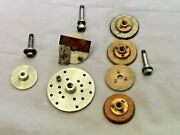Watchmakers Lathe 8mm Face Plates 7 With Collets Derbyshire Ime Lorch.