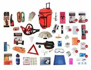 Family Road Survival Kit Food Water Shelter Light Radio First Aid Tools
