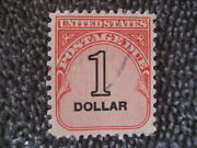 Used 1.00 Postage Due Stamp-scott J100-issued 1959-very Light Cancel