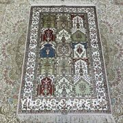 Yilong 2.5and039x4and039 Four Seasons Hand Knotted Carpets Silk Handmade Family Rugs 154b