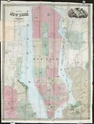 New York New York City / Map Of New York And Vicinity 1863