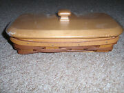 Longaberger 2013 Host Only Rectangle Booking Basket Set, Wb/rb W/ Prot/lid. New