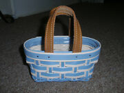 Longaberger 2017 Host Only Take Me With You Booking Basket, Blue W/ Prot New