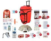Red Wheel Bag 2 Person Survival Kit 72+ Hours Food Shelter Hygiene First Aid