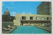 Swimming Pool Park Motor Inn Madison Capital Square Dome In Background Postcard