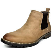 Bruno Marc Menand039s Chelsea Ankle Boots Classic Dress Casual Elastic Slip On Shoes