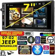 1997-2002 Jeep Wrangler Am/fm Bluetooth Usb Aux Radio Stereo Package
