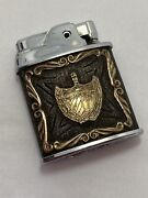 Vintage Ronson Sterling Silver And 10k Gold Wrap Aztec Chief Lighter