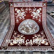 Yilong 5'x7.5' Handmade Totem Pattern Area Rug Hand Knotted Silk Carpets W218c