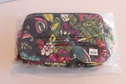 Nwt Vera Bradley Large Blush And Brush Makeup Case Autumn Leaves In Plastic Bag