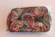 Nwt Vera Bradley Large Blush And Brush Makeup Case Heirloom Paisley In Plastic Bag
