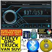 Fits Chevy-gmc Truck-van-suv Cd Bluetooth Usb Aux Variable Color Car Stereo