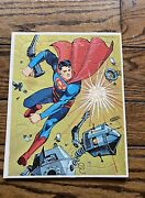 Vintage Superman Tray Frame Puzzle National Periodical Pubs 1966 Very Rare