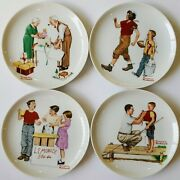 Authentic Norman Rockwell Lot Of 4 Decorative Collector's Plates
